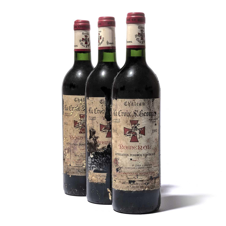 Lot 79-12 bottles 1992 Ch La Croix St Georges