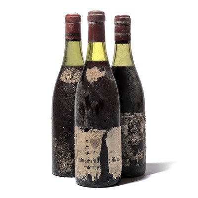 Lot 190-9 bottles Mixed Red Burgundy