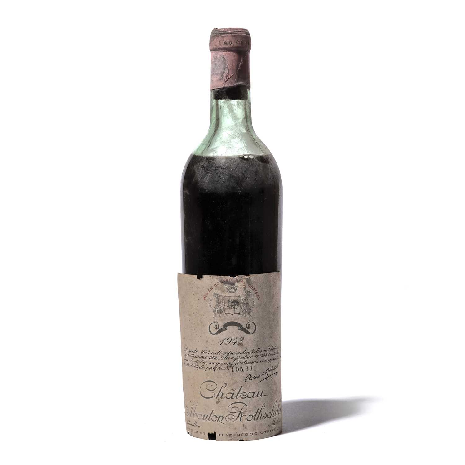 Lot 27-1 bottle 1943 Ch Mouton-Rothschild