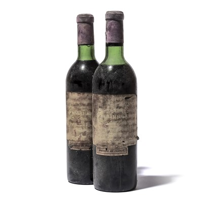 Lot 97-2 bottles 1970 Ch Margaux