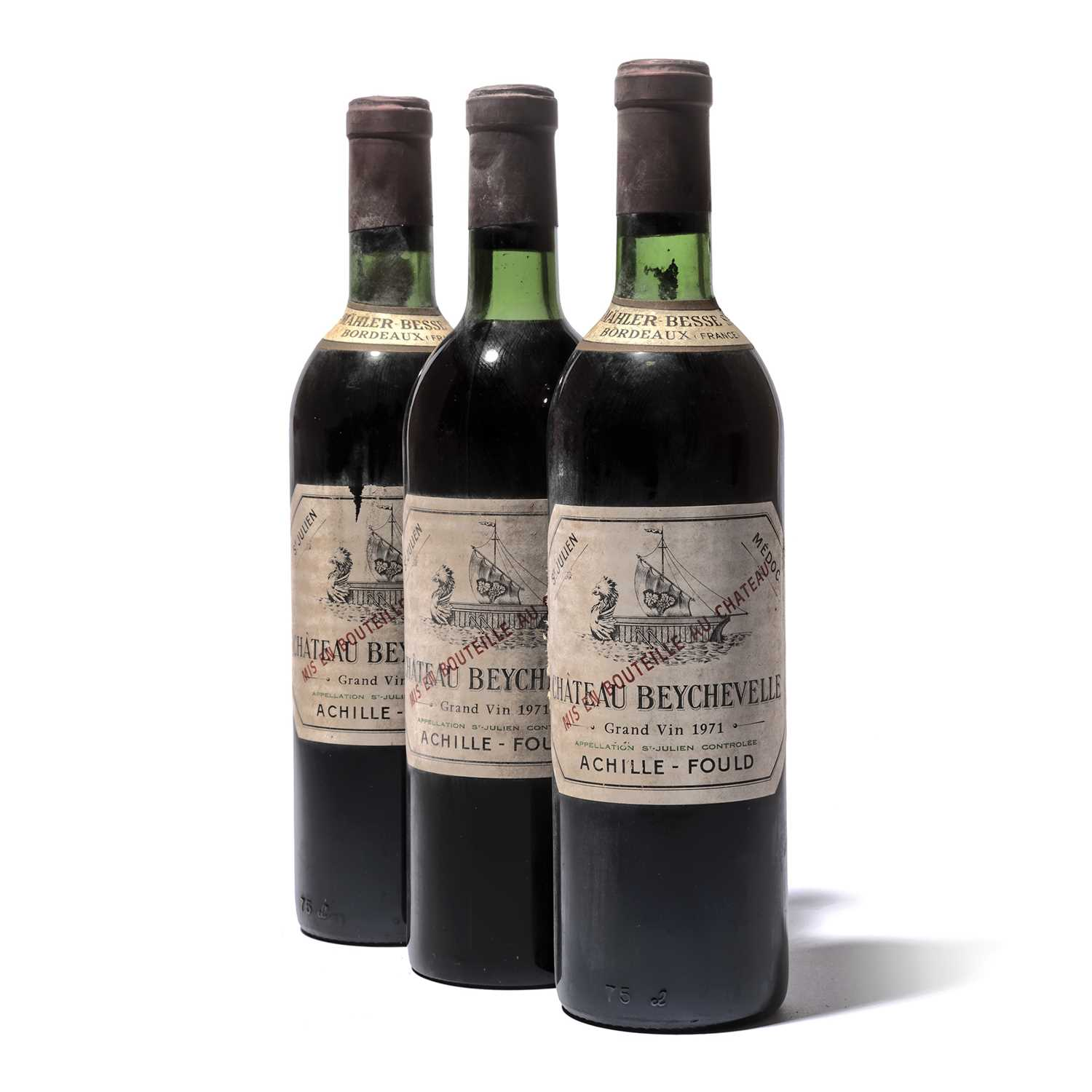 Lot 54-12 bottles 1971 Ch Beychevelle