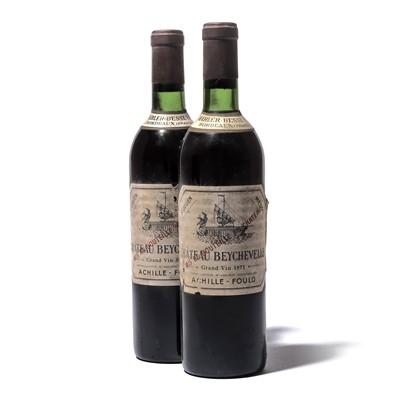 Lot 55-12 bottles 1971 Ch Beychevelle
