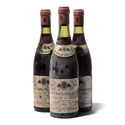 Lot 155-12 bottles 1974 Clos de la Roche Bouchard P&F
