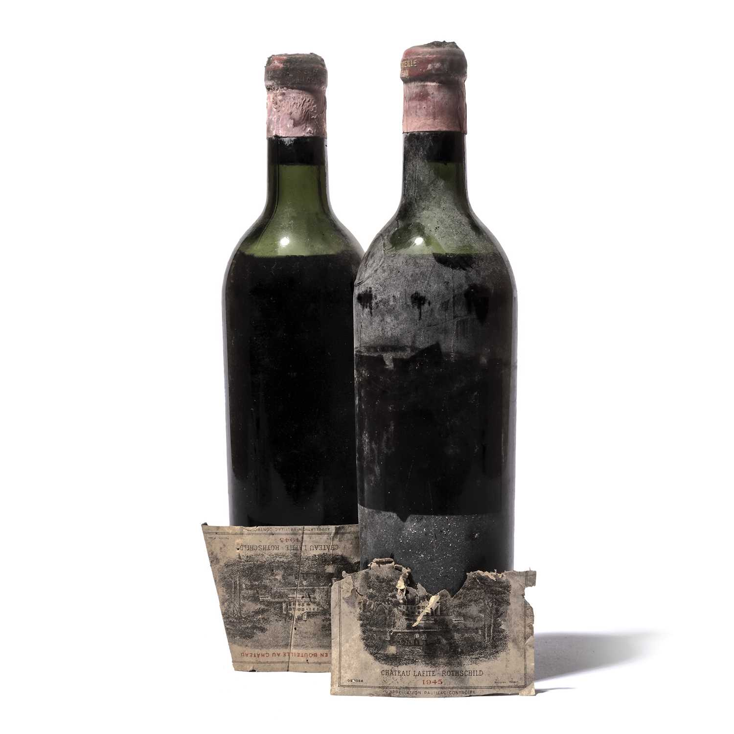Lot 95-2 bottles 1945 Ch Lafite-Rothschild