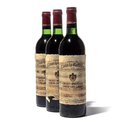 Lot 64-12 bottles 1978 Ch Canon la Gaffeliere