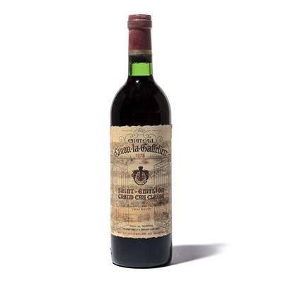 Lot 63-12 bottles 1978 Ch Canon la Gaffeliere