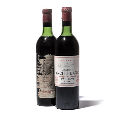 Lot 96-2 bottles 1970 Bordeaux