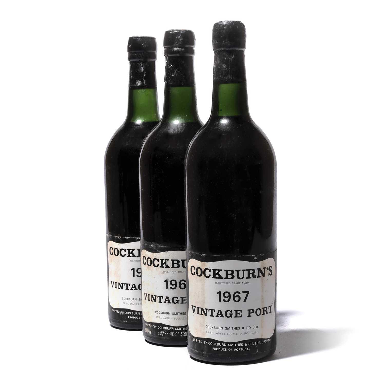 Lot 9-12 bottles 1967 Cockburn
