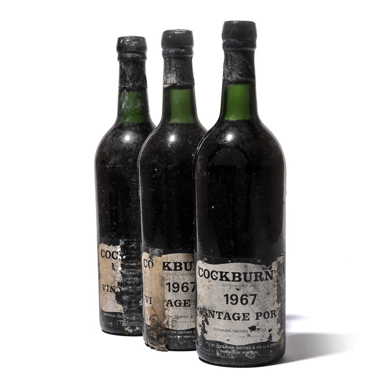 Lot 10-12 bottles 1967 Cockburn