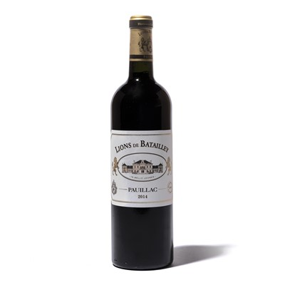 Lot 123-6 bottles 2014 Les Lions de Batailley