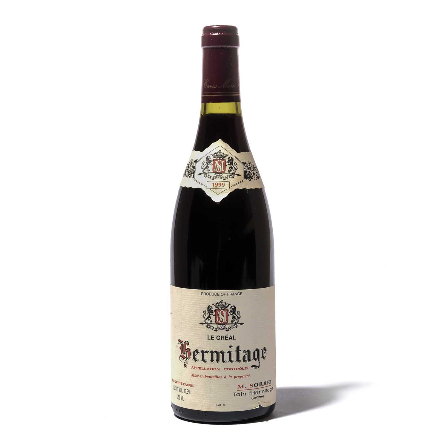 Lot 96 - 4 bottles 1999 Hermitage Le Greal M Sorrel