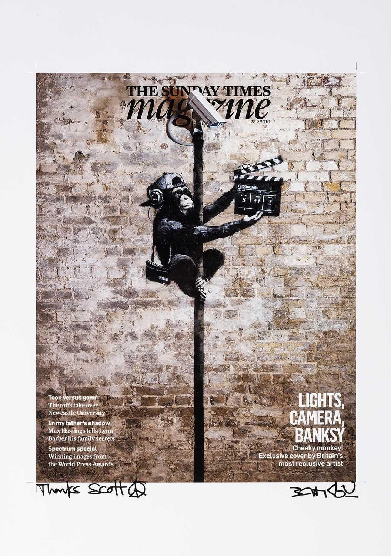 Lot 116 - Banksy (British 1974-), 'Lights, Camera, Vandalism', 2009