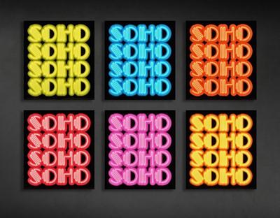 Lot 81 - Ben Eine (British 1970-), 'Soho', 2016 (Six Works)