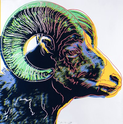 Lot 1 - Andy Warhol (American 1928-1987), 'Bighorn Ram, from Endangered Species', 1983