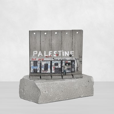 Lot 66 - Banksy (British 1974-), Walled Off Hotel - Five-Part Souvenir Wall Section (Hope)