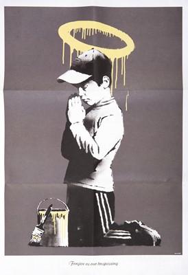 Lot 64 - Banksy (British 1974-), Forgive Us Our Trespassing', 2010
