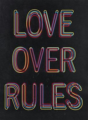 Lot 147a - Hank Willis Thomas (American 1976-), 'Love Over Rules', 2020
