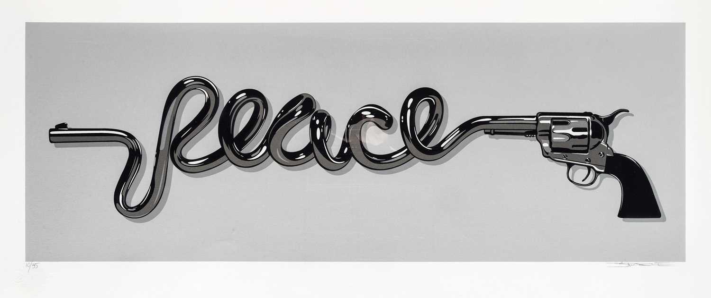 Lot 82 - D*Face (British 1978-), 'Peace Gun (Silver)', 2015