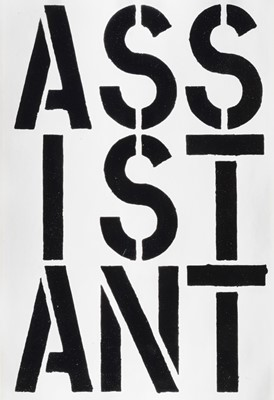 Lot 10 - Christopher Wool (American 1955-), 'Assistant, from Black Book', 1989