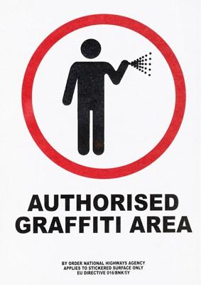 Lot 67 - Banksy (British 1974-) 'Authorised Graffiti Area', 2003