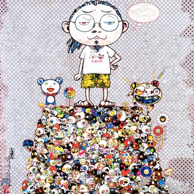 Lot 47 - Takashi Murakami (Japanese 1962-), 'With The Notion Of Death, The Flowers Look Beautiful', 2013