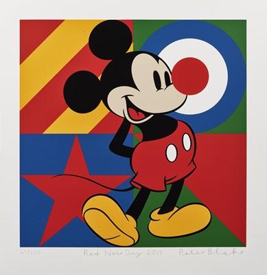 Lot 38 - Peter Blake (British 1932-), 'Red Nose Day', 2019