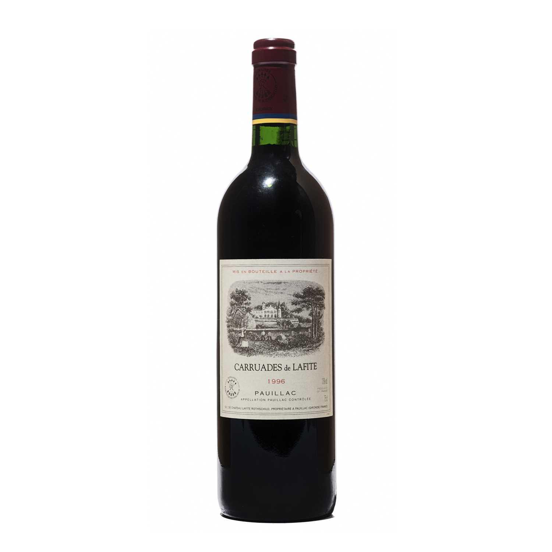 Lot 37 - 4 bottles 1996 Carraudes de Lafite