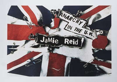 Lot 84 - Jamie Reid (British 1947-), 'Anarchy in the UK', 2005