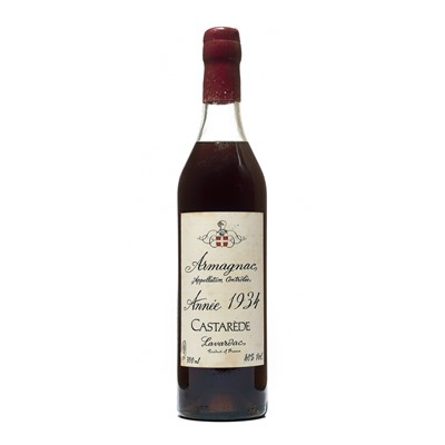 Lot 161 - 1 bottle 1934 Armagnac Castarede