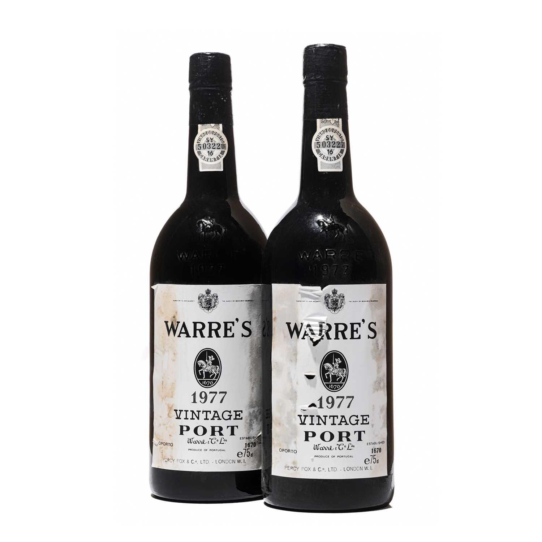 Lot 10 - 2 bottles 1977 Warre