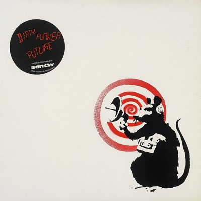 Lot 63 - Banksy (British 1974-), 'Radar Rat - Dirty Funker Vinyl (White)', 2008
