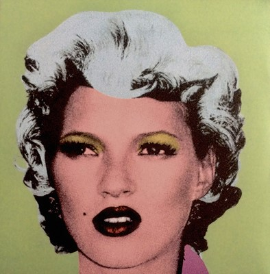 Lot 54 - Banksy (British 1974-), 'Kate Moss - Dirty Funker Vinyl (Green)', 2006