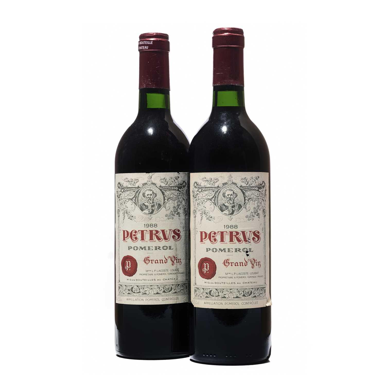 35 - 2 bottles 1988 Petrus