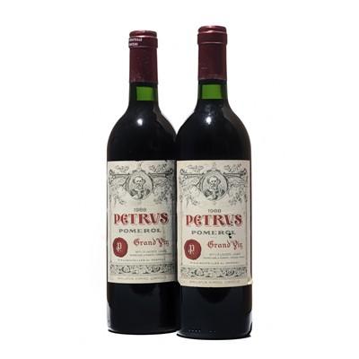 Lot 35 - 2 bottles 1988 Petrus