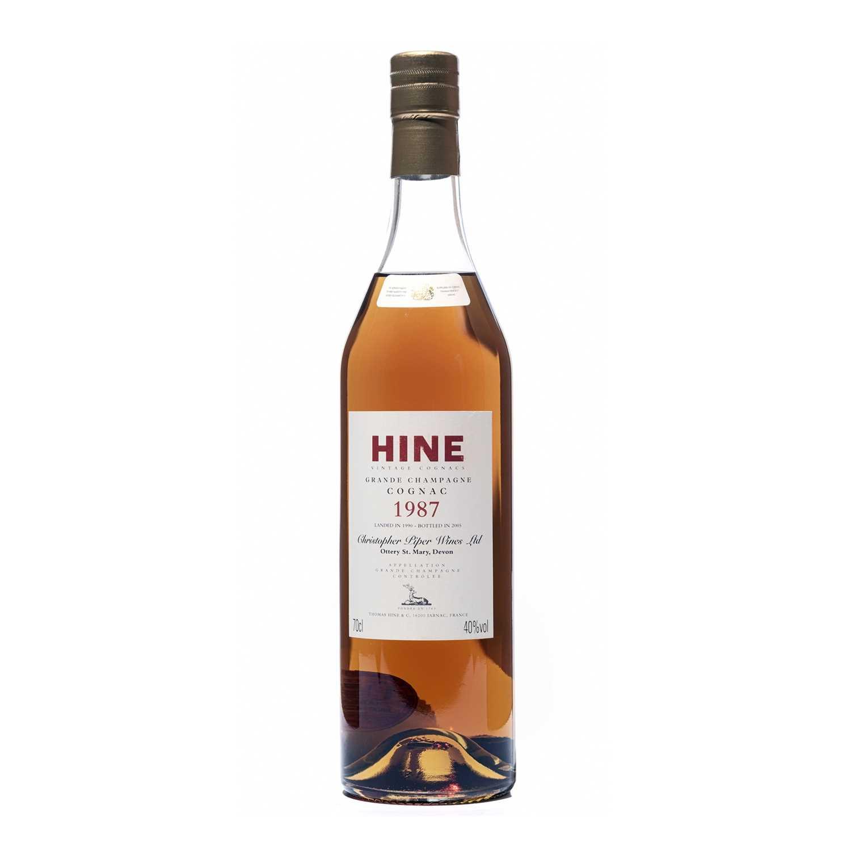 159 - 6 bottles 1987 Hine Grande Champagne Cognac