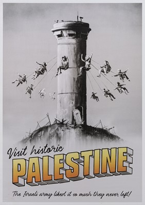 Lot 57 - Banksy (British 1974-), 'Visit Historic Palestine', 2018