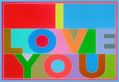 Lot 37 - Peter Blake (British 1932-), 'I Love You', 2013