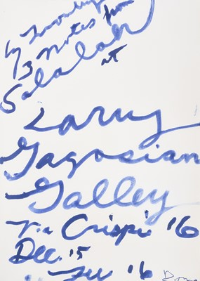 Lot 13 - Cy Twombly (American 1928-2011), 'Three Notes from Salalah Poster', 2008