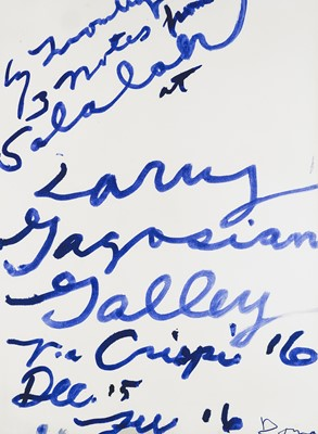 Lot 22 - Cy Twombly (American 1928-2011), 'Three Notes from Salalah Poster', 2008