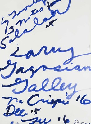 Lot 19 - Cy Twombly (American 1928-2011), 'Three Notes from Salalah Poster', 2008