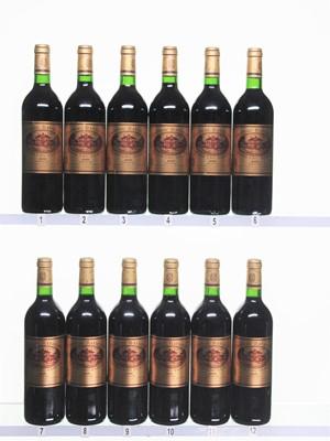 Lot 189 - 12 bottles 2000 Ch Batailley
