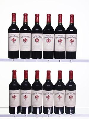 Lot 190 - 12 bottles 2000 Ch Canon la Gaffeliere