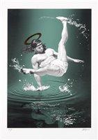 Lot 178 - Cosmo Sarson (British), 'Breakdancing Jesus – On Water', 2015