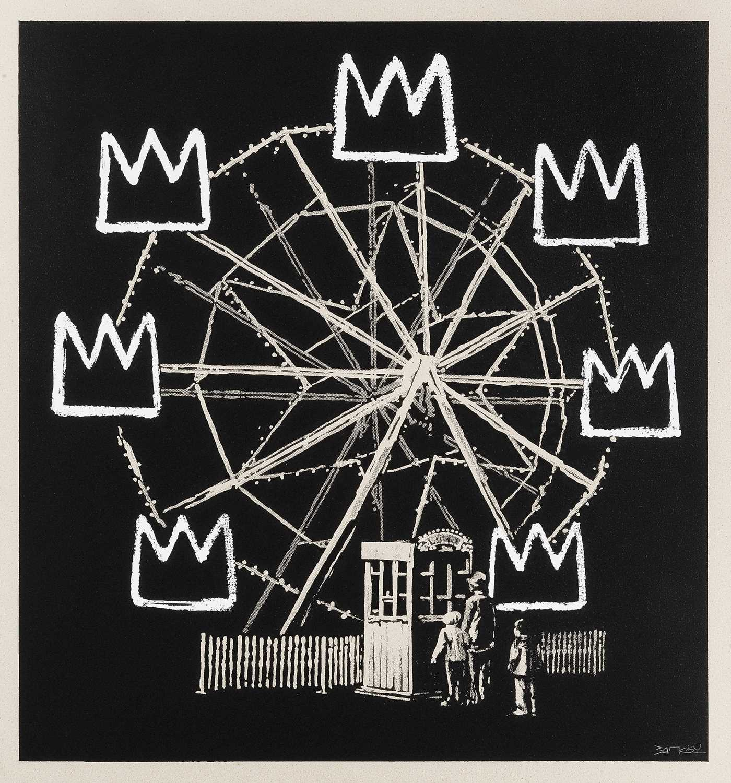 215 - Banksy (British 1974-), 'Banksquiat (Grey)', 2019