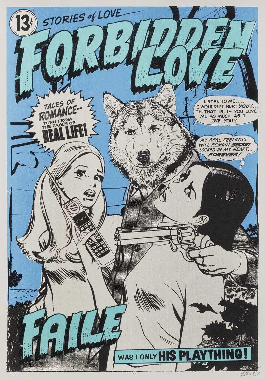 Lot 81 - Faile  (Collaboration), 'Forbidden Love', 2008