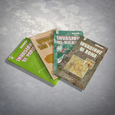 Lot 82 - Invader (French 1969-), 'Invasion Maps' (4 works)