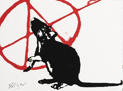 Lot 77 - Blek Le Rat (French 1951-), 'The Anarchist', 2020