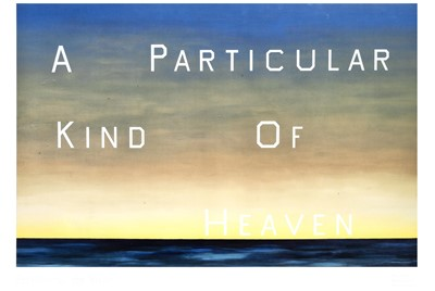 Lot 21 - Ed Ruscha (American 1937-), 'A Particular Kind Of Heaven', 1983