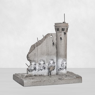 Lot 72 - Banksy (British 1974-), Walled Off Hotel - Four-Part Souvenir Wall Section With Watch Tower