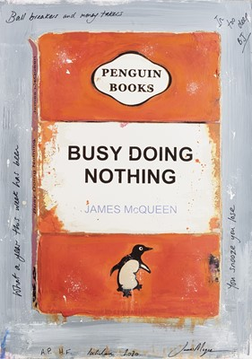 Lot 26 - James McQueen (British 1977-), 'Busy Doing Nothing', 2020